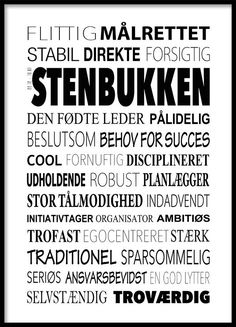 Stenbukken Plakat - Tekstcollage med stikord Wall Decor Quotes, Sign Quotes, Words Quotes, Wise Words, Sayings, Cool Picture Frames, Normal Quotes, How To Be Likeable, Heart Quotes