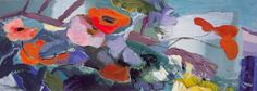 Ivon Hitchens--A Spray of Poppies and Marquerites