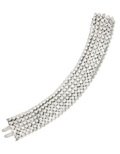Platinum and Diamond 'Cheval' Bracelet, Van Cleef & Arpels Of flexible design, set with 418 round diamonds weighing approximately 106.00 carats, length 7¾ inches, signed Van Cleef & Arpels, numbered N.Y.1972 S.O.