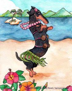 Hula Dancing Dog