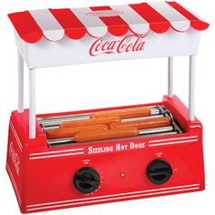 I cant belueve how adorable this is and for only $24.00 :)   Nostalgia Electrics Coca-Cola Series Hot Dog Roller