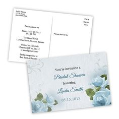 Bridal Shower Postcard Invitation  Country Hydrangea In A Mason