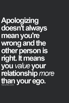 """This. Right here. Would it have harmed your ego so much to just say you're sorry? And """"I can see how you'd think that"""" is very far from an apology."""