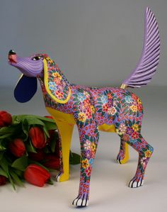 Oaxacan Wood Carving Maria Jimenez. Love Oaxaca, used to shop there a lot when I lived in Mexico City, df