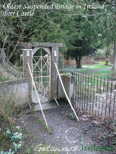 Oldest Suspended Bridge in Ireland: Built 1810 Castles In Ireland, Arch, Bridge, Outdoor Structures, Building, Garden, Buildings, Garten, Tuin