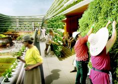 The retirement model will feature a community of homes and health facilities combined with a vertical urban farm.