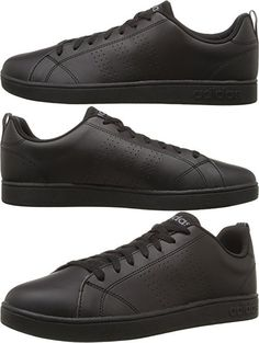 adidas neo vs advantage clean mens trainers black