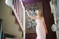 The beautiful bride and dress designer in one of her most gorgeous creations, a soft pink beaded lace bridal gown by Nicole Hoyer Designs South African Fashion, African Fashion Designers, Bridal Gowns, Wedding Dresses, Beaded Lace, Beautiful Bride, Designer Dresses, Pink, Bride Dresses