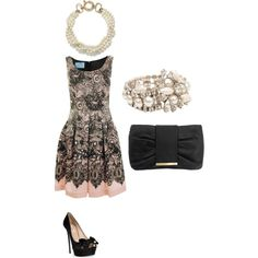 classic night out, created by alyssa-goldfarb on Polyvore