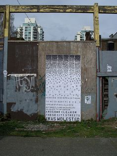 cascading confession, Vancouver street art