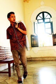Javanese traditional batik, part of Indonesian.