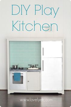 DIY play kitchen made from an old entertainment center - what little boy or girl wouldn't love this!