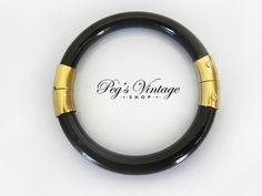A personal favorite from my Etsy shop https://www.etsy.com/ca/listing/276935470/vintage-black-celluloid-lucite-bangle