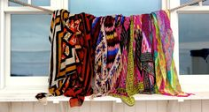 Theodora and Callum scarves Hawaii style! Sarong, strapless, haltar and one-shoulder dresses