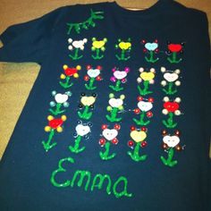 Emma's 100th day of school shirt for T-shirt contest