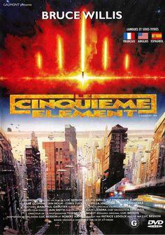 Le Cinquième élément - The Fifth Element - est un film de Luc Besson de 1997 avec Bruce Willis, Gary Oldman. Synopsis : Au XXIII siècle, dans un univers étrange et coloré, où tout espoir de survie est impossible sans la découverte du cinquième élément, un héros affronte le mal pour sauver l'humanité.