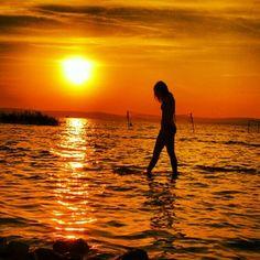 #sunset #balaton #yuppi #girl #water