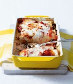 This hearty beef and mushroom cannelloni recipe is a generous meal for two.