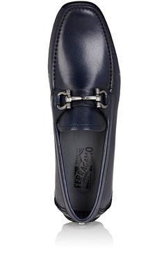 Salvatore Ferragamo Parigi Leather Drivers