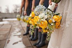 our navy & yellow details #flowers #wedding #navy #yellow @Megan Johnson @Katrina Appelquist