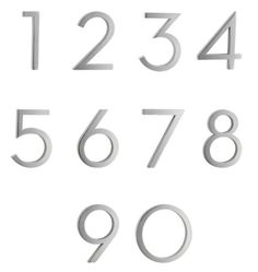 """Modern House Numbers - 6"""""""