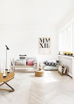 Typographic Home Decor Ideas - bold fonts can be incorporated into a contemporary minimalist decor.