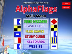 The AlphaFlags iPad App is $9.95 in the Apple App store.  You can Send and Receive AlphaFlag (encrypted) Text Messages.  You can read the AlphaFlag message or decrypt the message. With Flash Flags you can type a message and the App displays the message, full color, full-screen and in hi-resolution.  You can send a one-time message or a repeating message. http://www.alphaflags.com/
