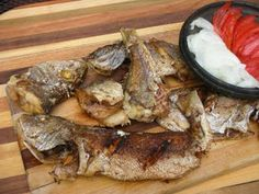 Kenam (Fried Fish)  |  The Ga people living along the coast traditionally just rubbed salt over the fish before shallow fat frying it.