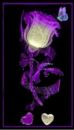 Find GIFs with the latest and newest hashtags! Search, discover and share your favorite Purple Roses Flowers GIFs. The best GIFs are on GIPHY. Purple Love, All Things Purple, Shades Of Purple, Purple Flowers, Purple Hearts, Purple Stuff, Purple Butterfly, Beautiful Gif, Beautiful Roses