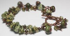 Sweet Basil... Handmade Jewelry Bracelet Beaded by Fanceethat