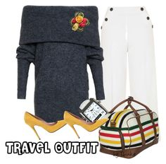 """Travel Outfit"" by ibinka ❤ liked on Polyvore featuring Topshop, Acne Studios, Martian, One Button, Jean-Michel Cazabat and Dot & Bo"