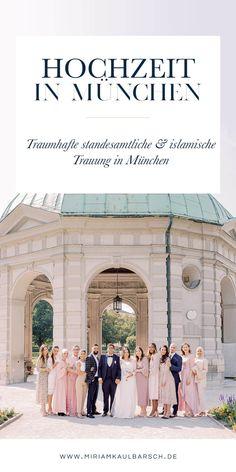 Traumhafte standesamtliche und islamische Hochzeit in München im Spätsommer! Amina und Atef haben sich zweimal das Ja-Wort gegeben und beide Trauungen waren unfassbar schön und emotional! Amina ist eine meiner längsten Freundinnen und ich bin so froh, dass ich ihre Hochzeit fotografieren durfte! Fotografie Portraits, Beide, Taj Mahal, Mermaid, Posts, Formal Dresses, Awesome, Blog, Travel