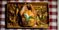 Lemon Herb Roasted Misty Knolls Chicken, Oven Frites, Caramelized Fennel - Chef Brent Lyman