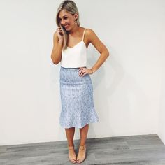 We LOVE the Soho Crop Top, Java Skirt and Chloe Earrings, get the look in Boutiques and Online xx