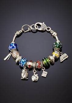 Teacher themed bracelet...so cute! At ideeli.com