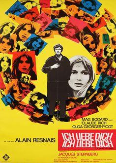 "Pocket : Movie Poster of the Week: Alain Resnais' ""Je t'aime, je t'aime"""