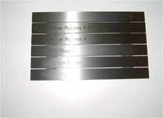 This internal sign is a stainless steel sign with black lettering. Reflections on the stainless steel make it virtually unreadable. Image courtesy of Sandra Manley, UWE. Reflection, Stainless Steel, Lettering, How To Make, Image, Black, Design, Calligraphy, Black People