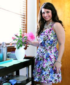 La Petite Fashionista: Painted Floral Dress via Oak73