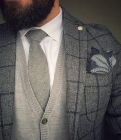 Grey blazer outfit