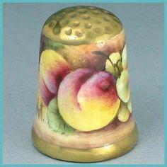 Gorgeous Vintage Hand Painted Porcelain Thimble