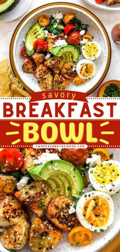 Start your day with the best breakfast idea you can customize! Filled with potatoes, eggs, veggies, and avocado, this Savory Breakfast Bowl is hearty and filling. Pin this easy breakfast recipe! Breakfast Casserole Easy, Savory Breakfast, Breakfast Bowls, Breakfast Ideas, Healthy Oatmeal Recipes, Delicious Breakfast Recipes, How To Cook Sausage, How To Cook Eggs, Fresh Potato