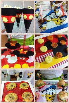 Apliques e Layout do Mickey e amigos para decoração de buffet de festa infantil, produzidos pela scraperia Amor no Papel. Apliques lindos para que você possa fazer a sua festa linda www.amornopapel.com.br