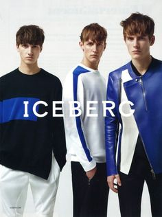 First Look | Iceberg Spring/Summer 2014 Campaign with Rutger Schoone, Andreas Sanby & Luca Stascheit