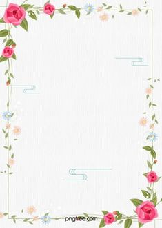 A Small Green Flower Border Floral Watercolor Background, Floral Wreath Watercolor, Watercolor Flowers, Paint Background, Rose Flower Png, Flower Art, Flower Backgrounds, Colorful Backgrounds, Simple Background Images