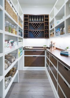The function is key for today's homeowners when designing the perfect pantry. When remodeling or building, the focus is often on the most highly trafficked room in the house: the kitchen. Courtesy California Closets Due Kitchen Pantry Design, Kitchen Storage, New Kitchen, Food Storage, Storage Spaces, Kitchen Ideas, Kitchen Post, Awesome Kitchen, Storage Area
