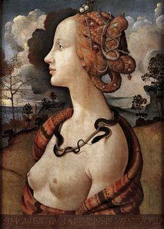 PIERO DI COSIMO (1462–1522) |   Portrait of Simonetta Vespucci Piero di Cosimo1480