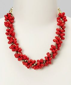 Coral Lali Necklace by Top It Off on #zulily today!