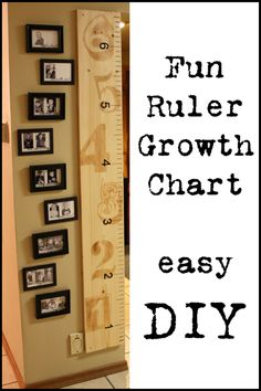Ruler Growth Chart. Put pictures next to it of kids growing too. Love it!