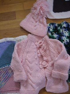 Free Pattern: Cables & Bobbles Baby Set by Michele Woodford