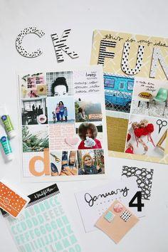 Scrapbook Sunday: Create a Digital Photo Collage   A Beautiful Mess   Bloglovin'